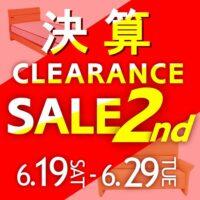 決算CLEARANCE SALE 第2弾【6月19日~6月29日】
